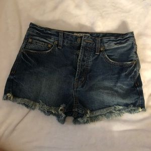 Free people dark wash shorts
